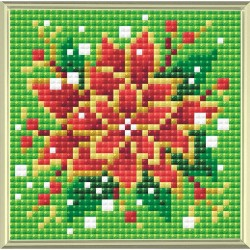 Broderie Diamant  RIOLIS  AM0019  Poinsettia