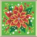 Broderie Diamant  RIOLIS  AM0019  Poinsettia