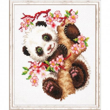 Point de croix compté  Chudo Igla  Magic Needle  19-26  Panda