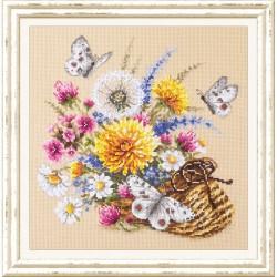 Fleurs des prés  40-81  Broderie  Point de croix compté  Chudo Igla  Magic Needle