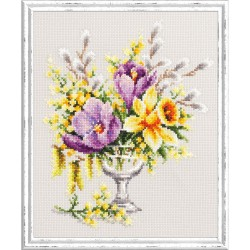 Magic Needle  Bouquet de printemps  100-002  Broderie  Point de croix compté  Chudo Igla