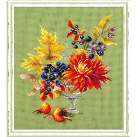 Magic Needle  Bouquet d'automne  100-005  Broderie  Point de croix compté  Chudo Igla