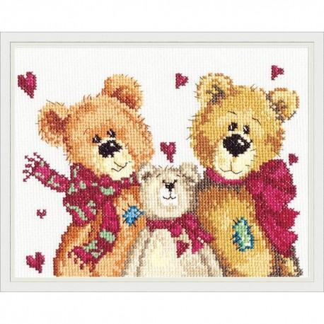 Trois ours  17-06  Magic Needle  Broderie  Point de croix compté  Chudo Igla
