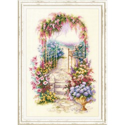 Entrée au jardin  110-001  Magic Needle  Broderie  Point de croix compté  Chudo Igla