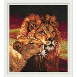 Chudo Igla  Lion  62-05  Magic Needle  Broderie  Point de croix compté  Chudo Igla