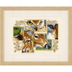 VERVACO  0145247  Collage d'animaux  Broderie  Point de croix compté