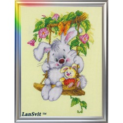 Sunny  Bunny  D-007  LanSvit  Broderie  Point de croix compté