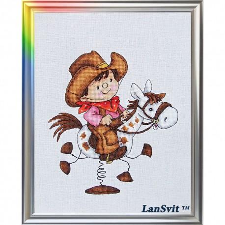 Le seigneur des prairies  D-040  LanSvit  Broderie  Point de croix compté  Aida