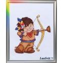 Œil de lynx  D-039  LanSvit  Broderie  Point de croix compté  Aida