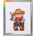 Brave shérif  D-034  LanSvit  Broderie  Point de croix compté  Aida