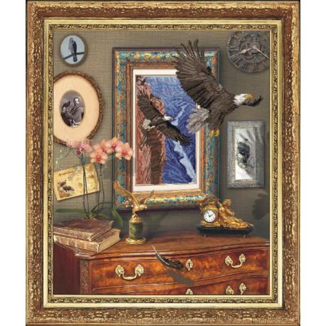Krasa i Tvorchist   kit  Vol de l'aigle   Krasa i Tvorchist  20111   Broderie du monde