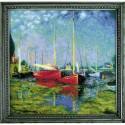 Broderie  Point de croix compté  RIOLIS  1779  Argenteuil d'après la peinture de C. Monet