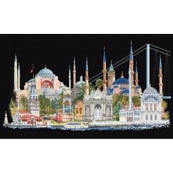 Istanbul  479.05  Thea Gouverneur  Broderie  Point de croix compté  Aida 7.2 noir