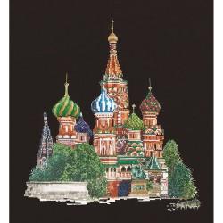Cathédrale  Saint  Basile  Moscou  513.05  Thea Gouverneur  Broderie  Point de croix compté  Aida 7.2 noir