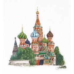 Cathédrale  Saint  Basile  Moscou  513  Thea Gouverneur  Broderie  Point de croix compté  Lin 14 fils