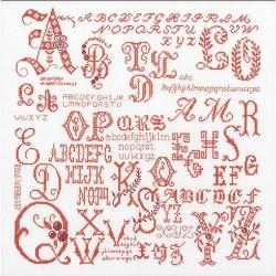 Antique Character  Sampler  2093  Thea Gouverneur  Broderie  Point de croix compté  Lin 14 fils