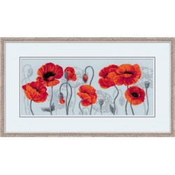 Kit point compté  Scarlet Poppies  100-037  Riolis