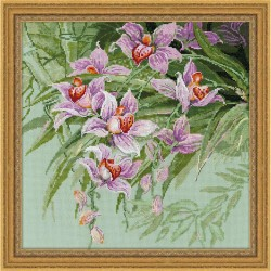 Riolis  Tropical  Orchids  1401  Broderie  Point de croix compté  Aida 5.5