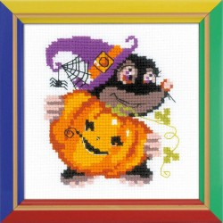 Happy  Halloween  HB173  RIOLIS  Broderie  Point de croix compté  facile  Aida 4.5