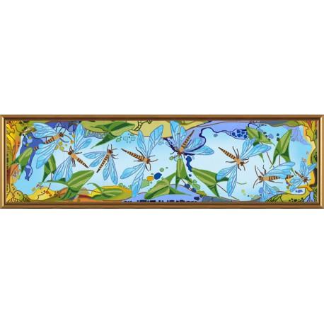Nova Sloboda  kit Dragonflies in the Air  Nova Sloboda  HK 6230   Broderie du monde
