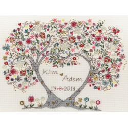 Love Blossoms XKA4  Bothy Threads  Broderie  Point de croix compté