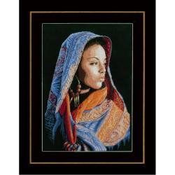 Dame  Africaine  0149998  Lanarte  Broderie  Point de croix compté