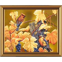 Nova Sloboda  kit Bird Calendar, Fall  Nova Sloboda  CP 4021 | Broderie du monde