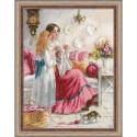 Broderie  Point de croix compté  RIOLIS 1789  Cours de couture  Aida 5.4