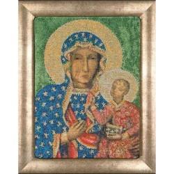 Madonna  de  Czestochowa  469A  Thea Gouverneur  Icône  Point de croix compté  sur  Aida
