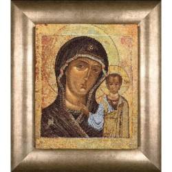 Icône  Vierge de Kazan  477A  Thea Gouverneur  Broderie  Point de croix compté  sur  Aida