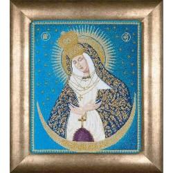 Icône  Notre-Dame de la porte de l'aube  530A  Thea Gouverneur  Point de croix compté  sur  Aida