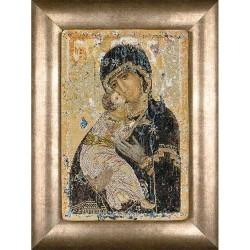 Icône  Notre dame de Vladimir  531A  Thea Gouverneur  Point de croix compté  sur  Aida