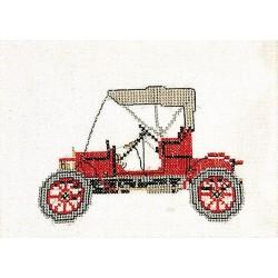 Opel 1909  Thea Gouverneur 1056  Kit broderie  Point de croix compté  sur  Lin 12 fils