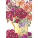Bouquet de roses  3019 Thea Gouverneur  Point compté  sur  Lin 14 fils
