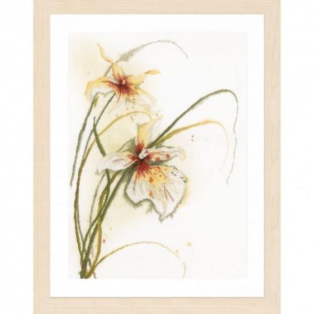 Orchidée  0008014 Lanarte  Broderie  Point de croix compté  sur  Étamine