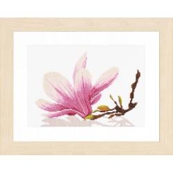 Branche de Magnolia  0008162 Lanarte  Broderie  Point de croix compté  sur  Étamine