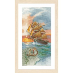 Lanarte 0171356  Voyage de découverte  Broderie  Point compté  sur  Lin 12 fils