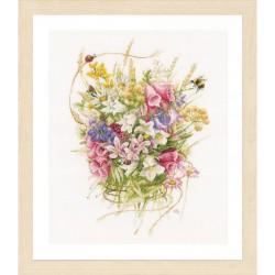 Lanarte 0173516 Bouquet de fleurs d'Été  Broderie  Point de croix compté  sur  Étamine