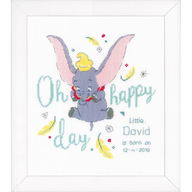 Vervaco   0176205 Disney Dumbo Oh happy   Kit Broderie ...