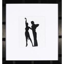 Couple dansant 1  0008169 Lanarte  Broderie  Point de croix compté