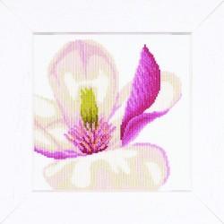 Fleur de Magnolia   0008305 Lanarte  Broderie  Point de croix compté  Aida