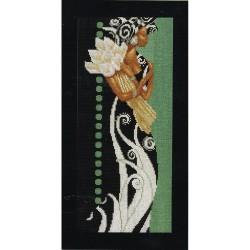Femme africaine au fleurs   0008318 Lanarte  Broderie  Point de croix compté  Aida