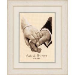 Dans ta main  0011667 Vervaco  Broderie  Point de croix compté