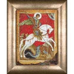 Icône  St. George  498A Thea Gouverneur  Broderie  Point de croix compté  Aida