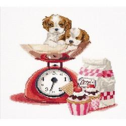 Cupcake puppy  741A Thea Gouverneur  Broderie  Point de croix compté  Aida