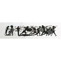 Thea Gouverneur 951  Grèce Achille  Broderie  Point de croix compté  sur  Lin 12 fils