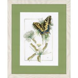 Lanarte  0021869  Papillon et airelles  Broderie  Point de croix compté  Aida