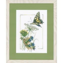 Lanarte 0021622  Papillon d'airelle  Broderie  Point de croix compté  étamine