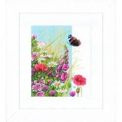 Lanarte 0144525  Fleurs sauvages  Broderie  Point de croix compté  étamine