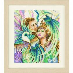 Oiseaux du paradis  0144563 Lanarte  Broderie  Point de croix compté  Aida
